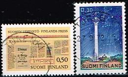 FINLANDE/Oblitérés/Used/1971 - Presse,Tour Nasinneula / YVT N°656,657  - MI.N°691,692 - Oblitérés