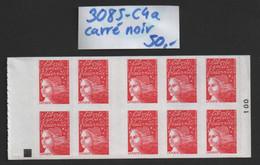 Carnet N° 3485-C4a (Carré Noir) Neuf ** TTB - Uso Corrente