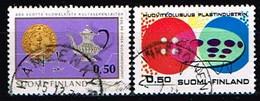 FINLANDE/Oblitérés/Used/1971 - Orfèvrerie, Industrie Plastique / YVT N°661,662  - MI.N°696,697 - Oblitérés