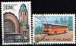 FINLANDE/Oblitérés/Used/1971 - Gare, Autobus Postal / YVT N°663,664  - MI.N°698,699 - Oblitérés