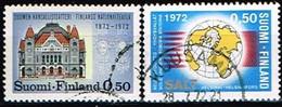 FINLANDE/Oblitérés/Used/1972 - Théatre, SALT / YVT N°667,668  - MI.N°702,703 - Oblitérés