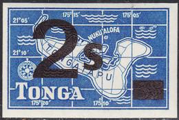 Tonga 1968 MH Sc #219 2s On 3 1/2p Map Of Tongatapu Die Cut - Tonga (...-1970)