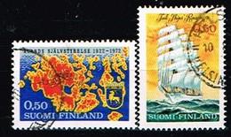 FINLANDE/Oblitérés/Used/1972 - Conseil Général D'Aland, Bateau Ecole / YVT N°669,670  - MI.N°704,705 - Oblitérés