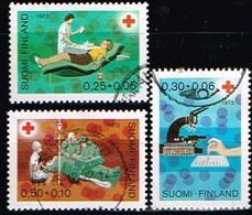 FINLANDE/Oblitérés/Used/1972 - Croix Rouge / YVT N°671/673  - MI.N°707/709 - Oblitérés