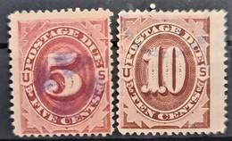 USA 1891- Canceled - Sc# J25, J26 - Postage Due 5c 10c - Portomarken