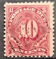 USA 1895/97 - Canceled - Sc# J42 - Postage Due 10c - Portomarken