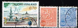 FINLANDE/Oblitérés/Used/1973 - Ville Et Série Courante / YVT N°680,681,682  - MI.N°716,717,723 - Oblitérés