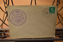 Espagne - Enveloppe - Avec Cachet San Julian De Samos - Marcophilie - EMA (Empreintes Machines)