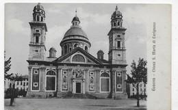 (RECTO / VERSO) GENOVA EN 1914 - CHIESA S. MARIA DI CARIGNANO - BEAU TIMBRE ET FLAMME- CPA - Genova