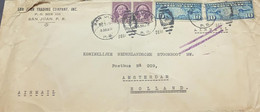 O) 1932 PUERTO RICO, USS OCCUPATION, MAP OF US AND TWO MAIL PLANES - AIR POST STAMP, WASHINGTON, SAN JUAN TRADING COMPAÑ - Puerto Rico