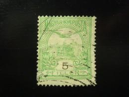 TIMBRE HONGRIE 5 FILLER 1900 / 1905 - Gebraucht