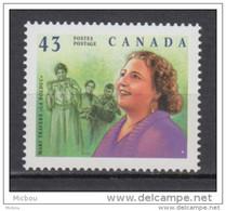 Canada, MNH, 1994, #1526, Femme, Woman, Accordéon, Accordion, Chanteuse, Singer, Musique, Music - Music