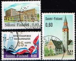 FINLANDE/Oblitérés/Used/1973 - Poste,Musée,Traité D'Amitié / YVT N°683,684,685  - MI.N°718,719,720 - Oblitérés