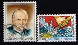 FINLANDE/Oblitérés/Used/1973 - Président, Canoé  / YVT N°686,688  - MI.N°721,727 - Oblitérés