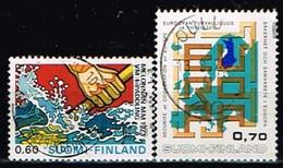 FINLANDE/Oblitérés/Used/1973 - Canoé, Sécurité Et Coopération  / YVT N°688,689  - MI.N°727,726 - Oblitérés