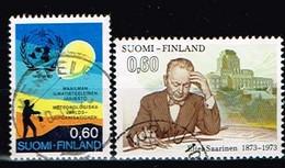 FINLANDE/Oblitérés/Used/1973 - Météorologie,Architecte  / YVT N°692,693  - MI.N°728,729 - Oblitérés