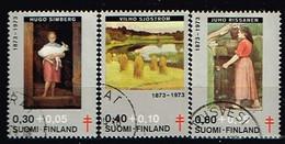 FINLANDE/Oblitérés/Used/1973 - Artistes- Peintres  / YVT N°694/696  - MI.N°730/732 - Oblitérés
