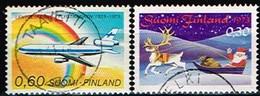 FINLANDE/Oblitérés/Used/1973 - Aviation,Noel / YVT N°702,703  - MI.N°738,739 - Oblitérés