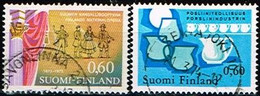 FINLANDE/Oblitérés/Used/1973 - Opéra, Industrie Porcelaine / YVT N°704,705  - MI.N°740,741 - Oblitérés