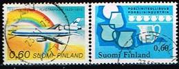 FINLANDE/Oblitérés/Used/1973 - Aviation, Industrie Porcelaine / YVT N°702,705  - MI.N°738,741 - Oblitérés