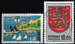FINLANDE/Oblitérés/Used/1974 - Ville,Armoirie / YVT N°707,708  - MI.N°743,744 - Oblitérés