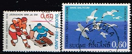 FINLANDE/Oblitérés/Used/1974 - Hockey Sur Glace,Mouettes / YVT N°711,712  - MI.N°745,748 - Oblitérés