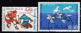 FINLANDE/Oblitérés/Used/1974 - Hockey Sur Glace,Mouettes / YVT N°711,712  - MI.N°745,748 - Usados