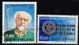 FINLANDE/Oblitérés/Used/1974 - Ecrivain,Education Populaire / YVT N°714,715  - MI.N°750,751 - Oblitérés