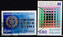 FINLANDE/Oblitérés/Used/1974 -Education Populaire, Rationalisation / YVT N°715,716  - MI.N°751,752 - Oblitérés