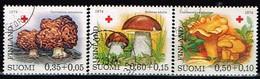 FINLANDE/Oblitérés/Used/1974 - Croix Rouge / Champignons / YVT N°717/719  - MI.N°753/755 - Usados