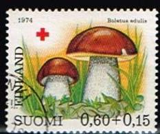 FINLANDE/Oblitérés/Used/1974 - Croix Rouge / Champignons / YVT N°719  - MI.N°755 - Oblitérés