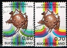 FINLANDE/Oblitérés/Used/1974 - UPU / YVT N°720/721  - MI.N°756/757 - Oblitérés