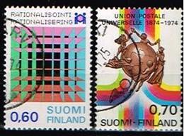 FINLANDE/Oblitérés/Used/1974 - Rationalisation, UPU / YVT N°716,721  - MI.N°752,757 - Oblitérés