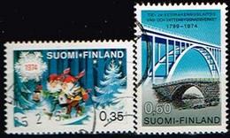 FINLANDE/Oblitérés/Used/1974 - Noêl , Pont  / YVT N°722,723  - MI.N°758,759 - Usados