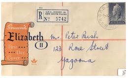 (FF 2) Australia Registered Cover - Posted In 1955 To Yagoona (Queen Elizabeth II) - Briefe U. Dokumente