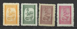 Portugal (Macau) 1950 – Dragões (Dragons) Emissão Local -  Complet Set Macao - Unused Stamps