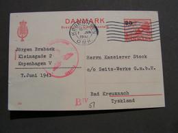 Danemark Karte 1941 Zensur - Briefe U. Dokumente