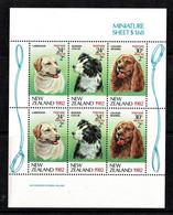 New Zealand 1982 Children's Health - Dogs Minisheet MNH - Ongebruikt