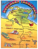 (JJ 5) Australia - NT - Map (posted With Flower Stamp) - Landkaarten