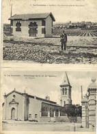 CARTE DOUBLE  LA LIVINIERE La Gare Vue Generale Prise De Notre Dame + La Livinière Pelerinage De N D Du Spasme La Chapel - Other Municipalities