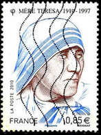 France Poste Obl Yv:4455 Mi:4868 Mère Teresa (Lign.Ondulées) - 2010-.. Matasellados
