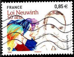 France Poste Obl Yv:5121 Mi:6679 Lucien Neuwirth Loi Neuwirth (Lign.Ondulées) - 2010-.. Matasellados