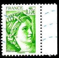 France Poste Obl Yv:5183 Mi:6908 Sabine De David Bord De Feuille (Lign.Ondulées) - 2010-.. Matasellados