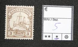 Nr. 5 Kiautschou Mit Pfalz - Colonia: Kiautchou