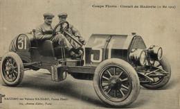 Coupe FLORIO 1914 NAZZARO Pilote Et Voiture Pneu PIRELLI Circuit De MADOVIE  ITALIA ITALY Bryan Goodman Collection - Rally Racing