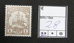 Nr. 28  Kiautschou Postfrisch - Colonia: Kiautchou