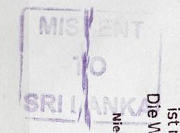"Corona Covid 19 Postal Service Interruption And Postmark MISSENT TO SRI LANKA ""Zurück An Den Absender "" Cover To SYRIA - Sri Lanka (Ceylon) (1948-...)"