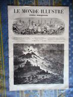 LE MONDE ILLUSTRE 04/05/1872  ITALIE LE VESUVE TORRE DEL GRECO ALGERIE ORAN ESPAGNE TARRAGONA ESPAGNE EDOUARD BERTIN NAN - 1850 - 1899