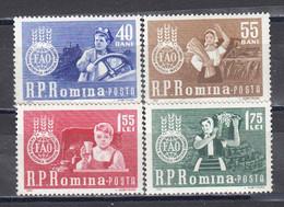 Romania 1963 - Fight Against Hunger (FAO), Mi-Nr. 2126/29, MNH** - Nuevos