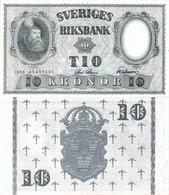 Sweden 1958 - 10 Kronor - Pick 43f UNC - Schweden